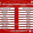 O'Neill's International Sportswear All County League Division 2 Draw for 2020 Groups. Teams in each group numbered 1. 5, 6, and 7 will all have 4 home games. Fixtures will...