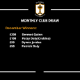 Well done to the December club draw winners.